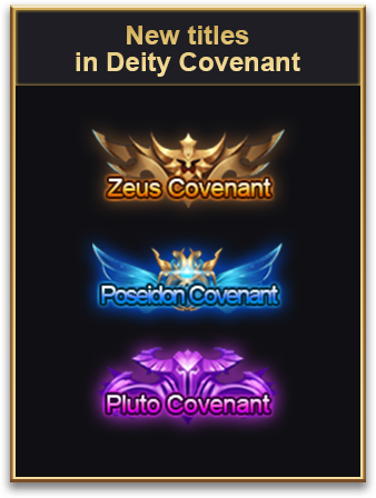 New titles in Deity Covenant
